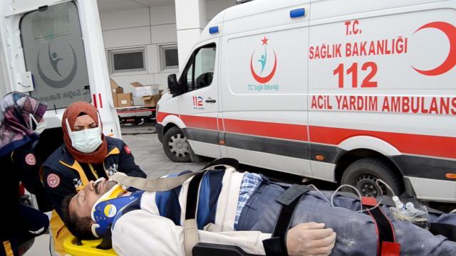 İnşaatın birinci katından düşen işçi yaralandı