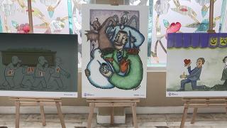 Organ bağışına dikkat çeken karikatürler Ankara'da sergileniyor