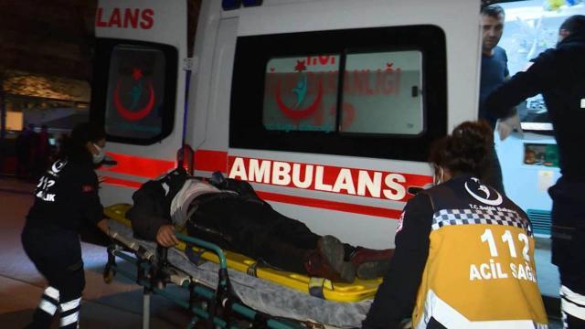 Kumar operasyonunda ikinci kattan atlayan kadın yaralandı