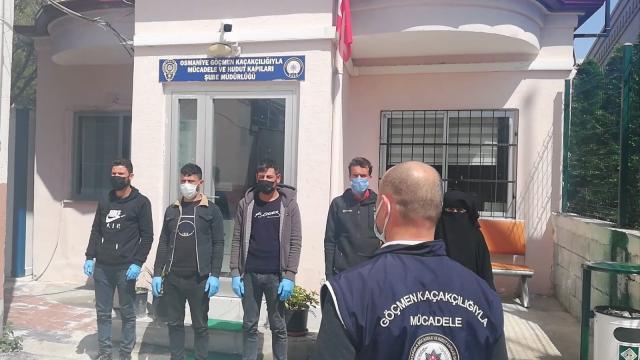 Osmaniyede yurda yasa dışı yollardan giren 5 Suriyeli yakalandı