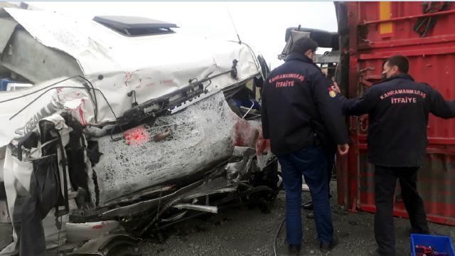 Kahramanmaraşta trafik kazası: 1 ölü 1 yaralı