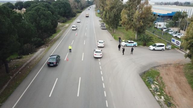 Antalyada geçen ay havadan yapılan denetimlerde 398 sürücüye ceza uygulandı