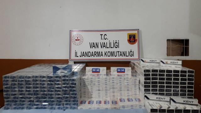 Vanda 10 bin paket kaçak sigara ele geçirildi