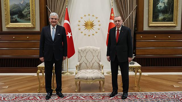 Cumhurbaşkanı Erdoğan, BM 75. Genel Kurul Başkanı Bozkırı kabul etti