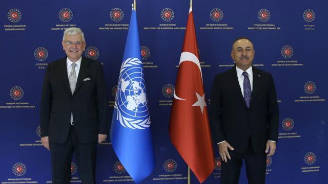 Bakan Çavuşoğlu, Volkan Bozkırla görüştü