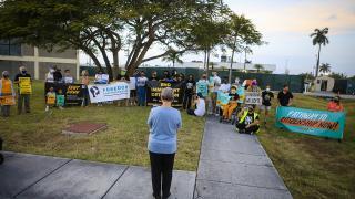 ABD'de göçmen çocuk gözaltı merkezi önünde protesto