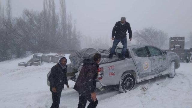 Aksarayda mahsur kalan 117 vatandaş kurtarıldı