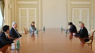 Azerbaycan Cumhurbaşkanı Aliyev, Volkan Bozkır ile görüştü