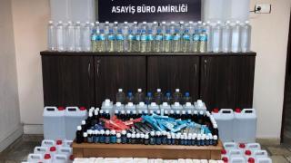 Manisa'da 297 litre kaçak etil alkol ele geçirildi