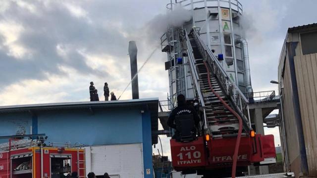 Kastamonuda kereste fabrikasında yangın