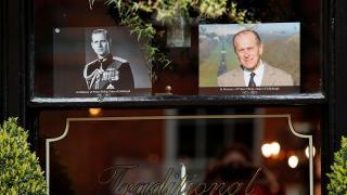 İngiliz halkı Prens Philip'e veda ediyor