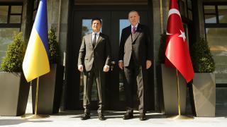Cumhurbaşkanı Erdoğan Zelenskiy ile bir araya geldi