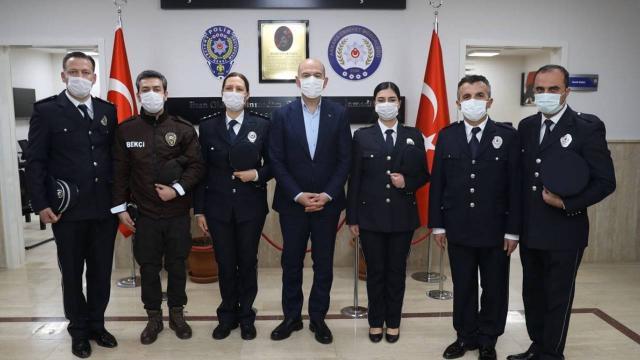 Bakan Soyludan Şehit Behram Aktaşlı Polis Merkezine ziyaret