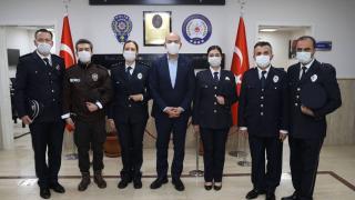 Bakan Soylu'dan Şehit Behram Aktaşlı Polis Merkezi'ne ziyaret