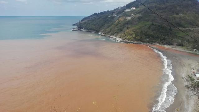 Zonguldakta denizin rengi değişti