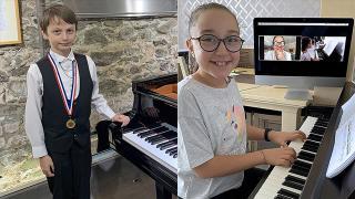 Çocuk piyanistler yetenekleriyle İzmir'in gururu oldular