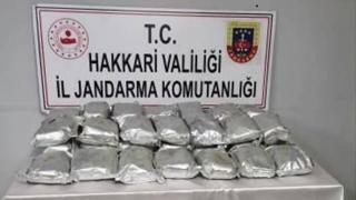 Hakkari'de 35 kilogram eroin ele geçirildi