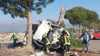 Denizli'deki 2 ayrı trafik kazasında 2 kişi yaralandı