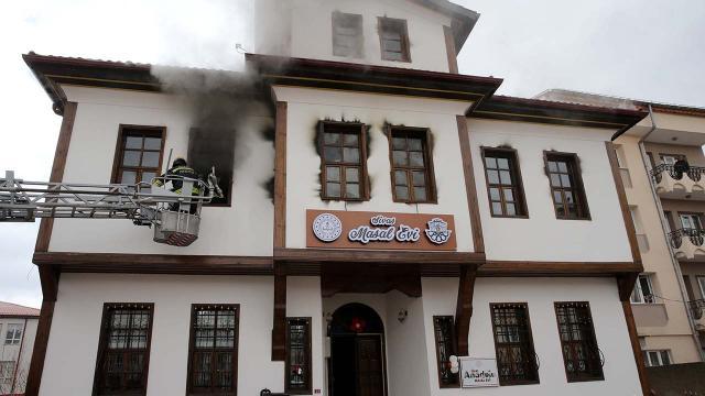 Bakan Selçukun Sivasta açtığı Masal Evinde yangın çıktı