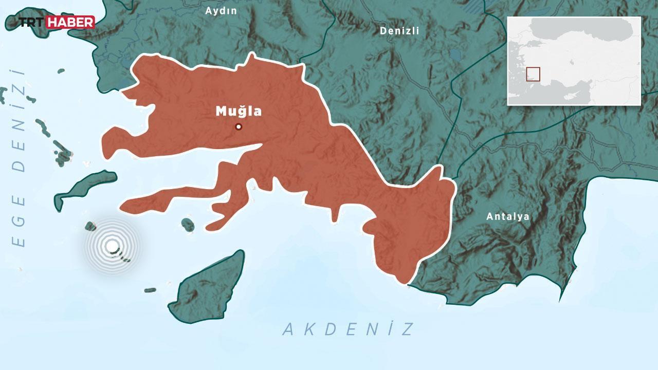 Muğla'da 3,8 büyüklüğünde deprem