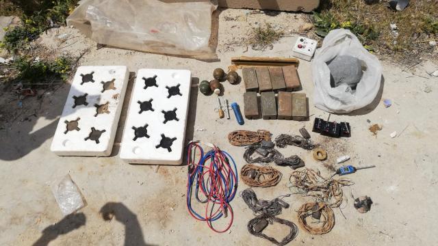 Tel Abyadda ele geçirilen çok sayıda patlayıcı imha edildi
