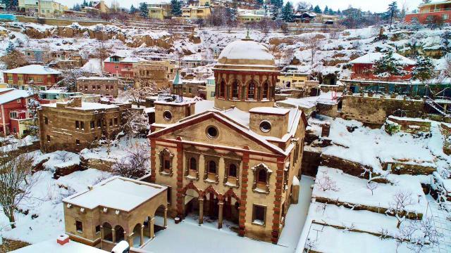 Talasta kar güzelliği