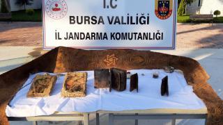 Bursa'da tarihi eser kaçakçılığı: 3 gözaltı