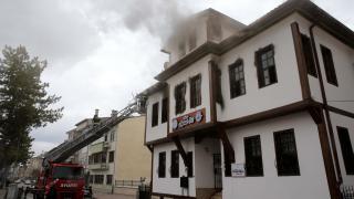 Masal Evi'nde çıkan yangında hasar oluştu