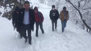 Bahçesaray'da yüz yüze eğitime bir günlük kar nedeniyle ara verildi