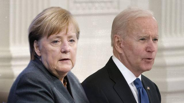 Biden ve Merkelden Ukraynaya destek açıklaması