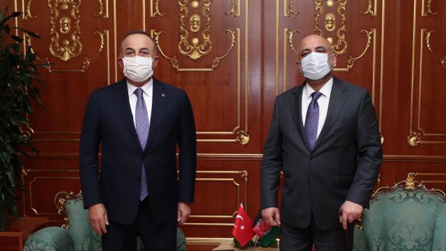 Dışişleri Bakanı Çavuşoğlu, Afgan mevkidaşı Atmar ile görüştü