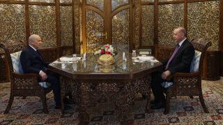 Cumhurbaşkanı Erdoğan ile Bahçeli iftar yemeğinde bir araya geldi
