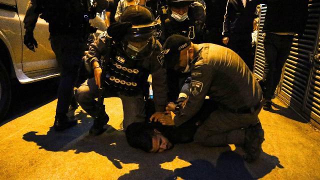 İsrail polisinden Kudüste Filistinlilere müdahale
