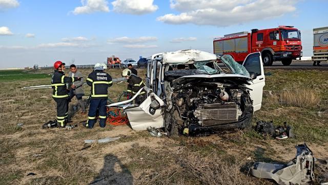 Aksarayda trafik kazası: 2 yaralı