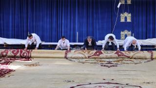 Milli Sarayların en büyük halısı restore edildi