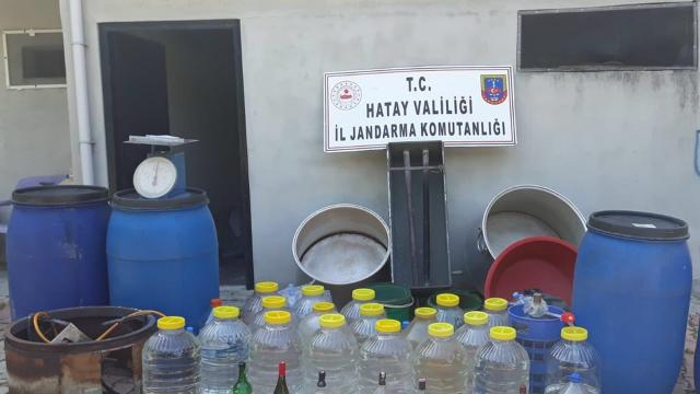 Hatayda 745 litre sahte içki ele geçirildi
