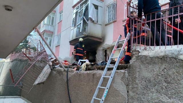 Ankarada bir binanın bodrum katında tüp patladı: 1 yaralı