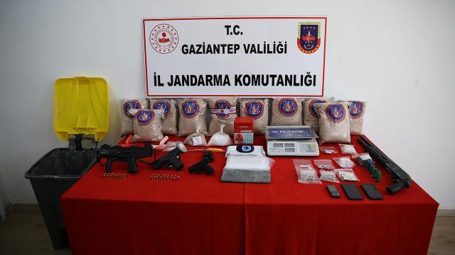 Gaziantepte bir evde 41 kilogram uyuşturucu ele geçirildi