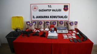 Gaziantep'te bir evde 41 kilogram uyuşturucu ele geçirildi
