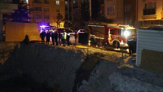 Ankara'da toprak kayması nedeniyle 3 katlı apartman boşaltıldı
