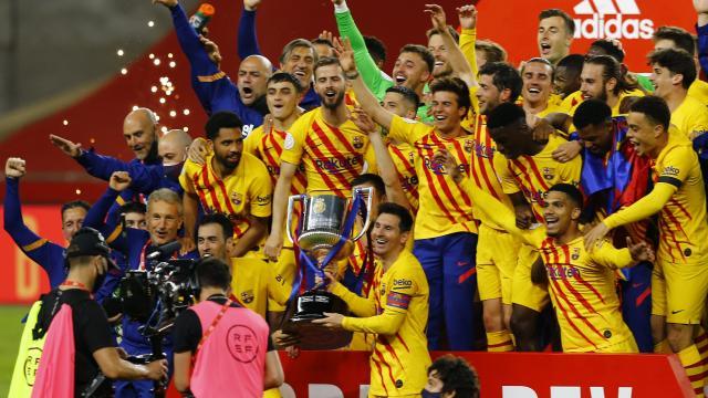 İspanya Kral Kupasında zafer Barcelonanın