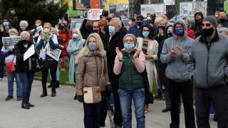 Bosna Hersek'te koronavirüs protestosu