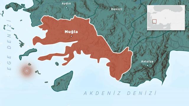 Ege Denizinde art arda depremler