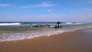 ABD'de arızalanan gösteri uçağı denize acil iniş yaptı