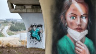 Sağlık çalışanları için moral grafitileri