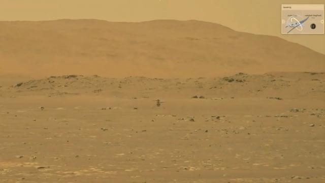 NASAnın Marstaki helikopteri Ingenuity ilk uçuşunu yaptı
