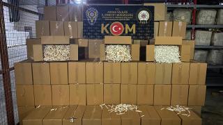 Adana'da 6 milyon 550 bin makaron ele geçirildi