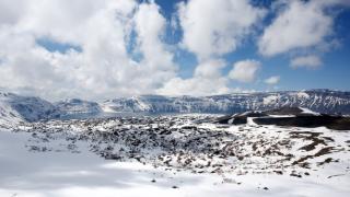 Nemrut Krater Gölü bahara hazırlanıyor