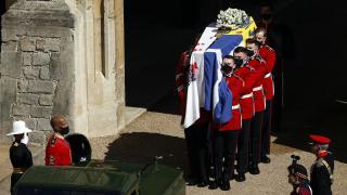 Prens Philip son yolculuğuna uğurlandı