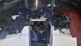 Muğla'da bir teknede 114 sığınmacı yakalandı